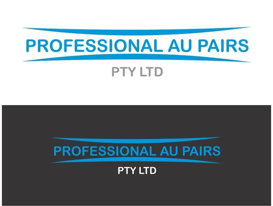 Kilpailutyö #96 kilpailussa Logo Design for Professional Au Pairs Pty Ltd