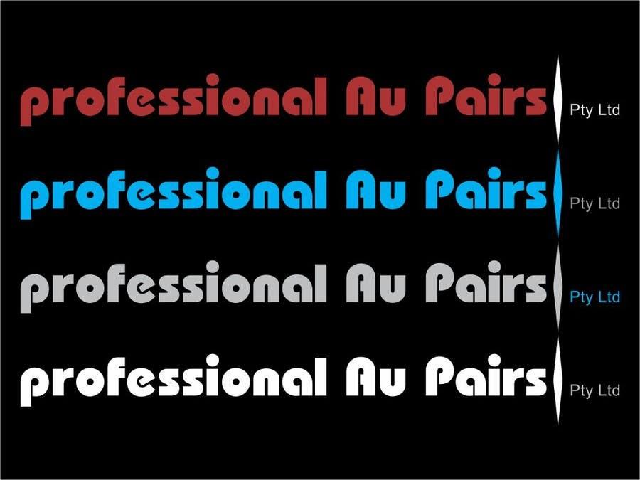 Kilpailutyö #108 kilpailussa Logo Design for Professional Au Pairs Pty Ltd
