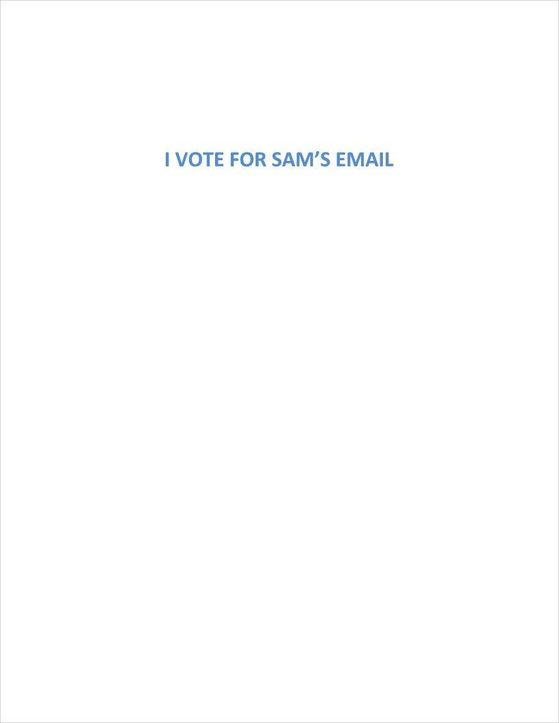 Contest Entry #                                        11                                      for                                         Vote for, Write, and/or Edit a Persuasive Email