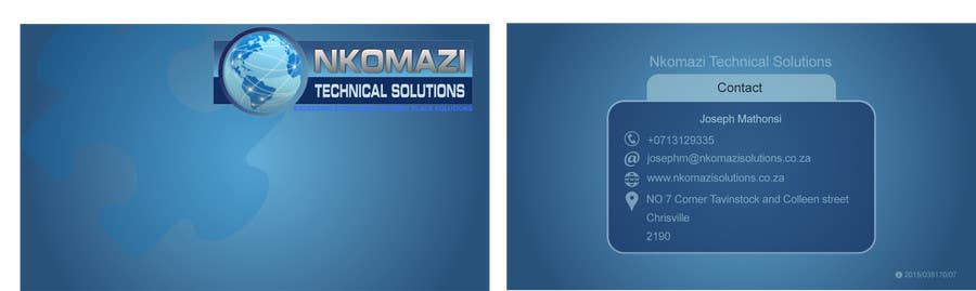 Konkurrenceindlæg #                                        10                                      for                                         Design Letterhead and Business Card for a technical solutions company