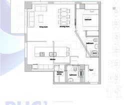 carlospaya tarafından Floor plan/interior ideas for sub-penthouse condo (1000sq feet) için no 7
