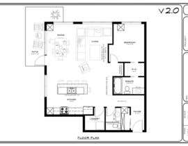 #28 for Floor plan/interior ideas for sub-penthouse condo (1000sq feet) af candesigns