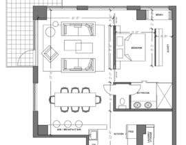#6 for Floor plan/interior ideas for sub-penthouse condo (1000sq feet) by mishineva