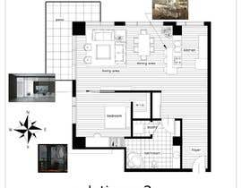 #21 for Floor plan/interior ideas for sub-penthouse condo (1000sq feet) by lorenzoarchitek