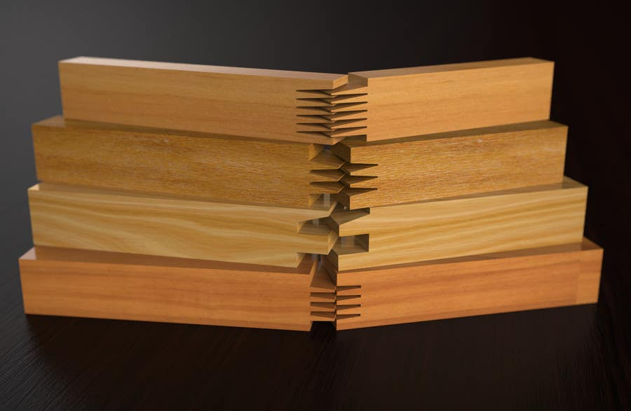 Konkurrenceindlæg #                                        45                                      for                                         Realistic 3D modelling - Sawed Wood profiles