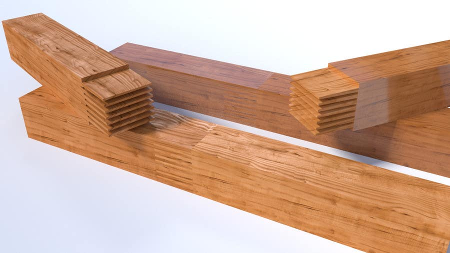 Konkurrenceindlæg #8 for Realistic 3D modelling - Sawed Wood profiles