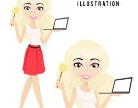 nº 6 pour Illustrate a cartoon of me for my photoshop services website par lilmermaaaid