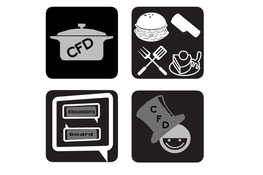 Конкурсная заявка №40 для Icons for food website