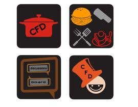 #41 para Icons for food website de azadarayhan