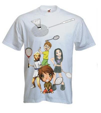 Proposition n°                                        12                                      du concours                                         Design a T-Shirt for Parody Avengers, Badminton, Chibi style