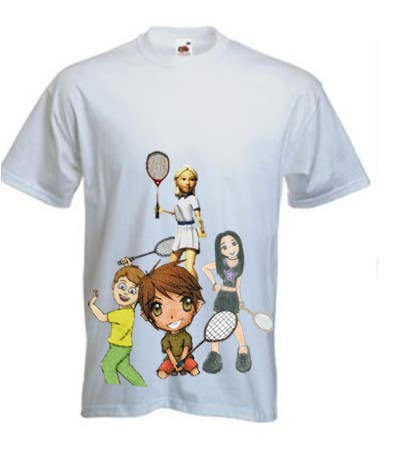Contest Entry #                                        15                                      for                                         Design a T-Shirt for Parody Avengers, Badminton, Chibi style