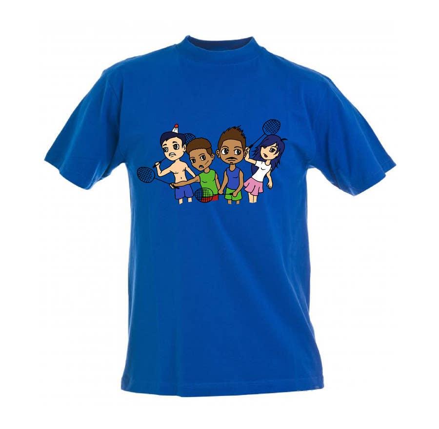 Proposition n°                                        7                                      du concours                                         Design a T-Shirt for Parody Avengers, Badminton, Chibi style