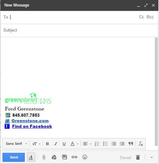Kilpailutyö #11 kilpailussa Gmail Email Signature