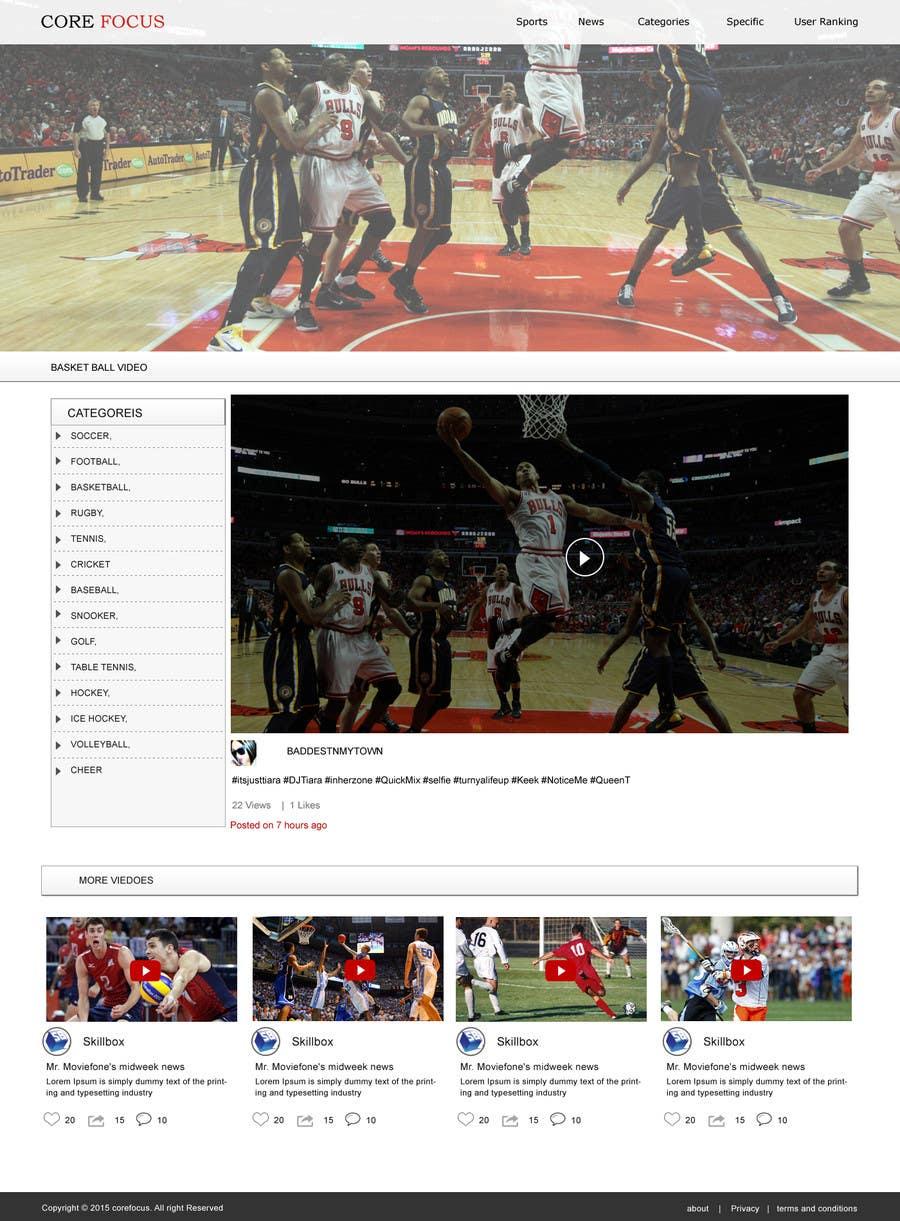 Konkurrenceindlæg #                                        9                                      for                                         Design a Website for Sports Skills Video Uploading Site