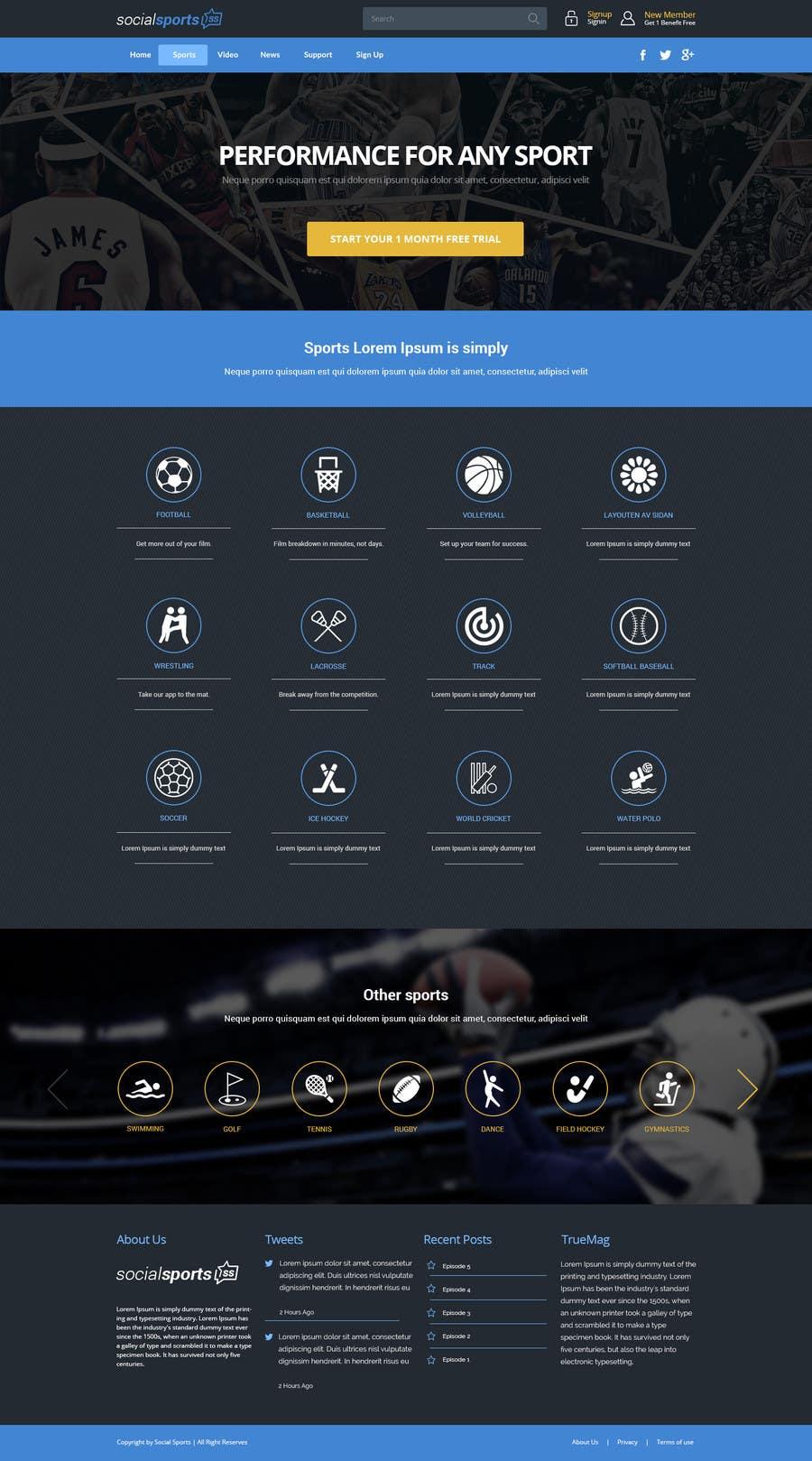 Konkurrenceindlæg #                                        7                                      for                                         Design a Website for Sports Skills Video Uploading Site