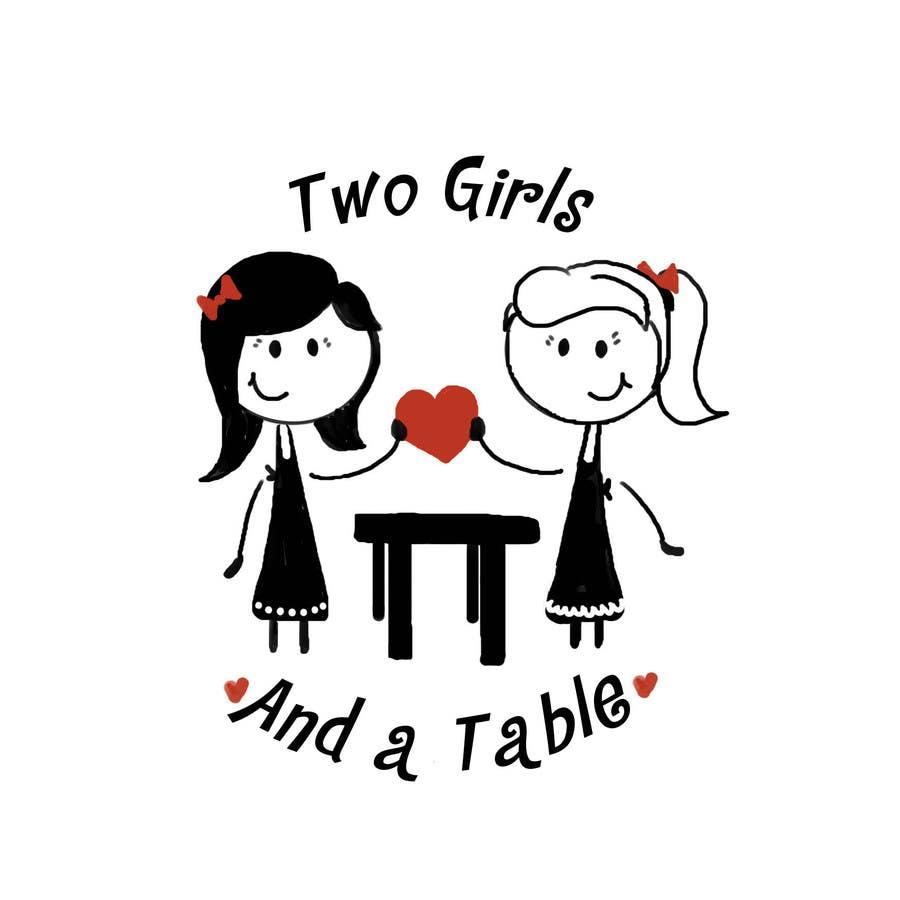 Penyertaan Peraduan #36 untuk Design a Logo for Two Girls and a Table