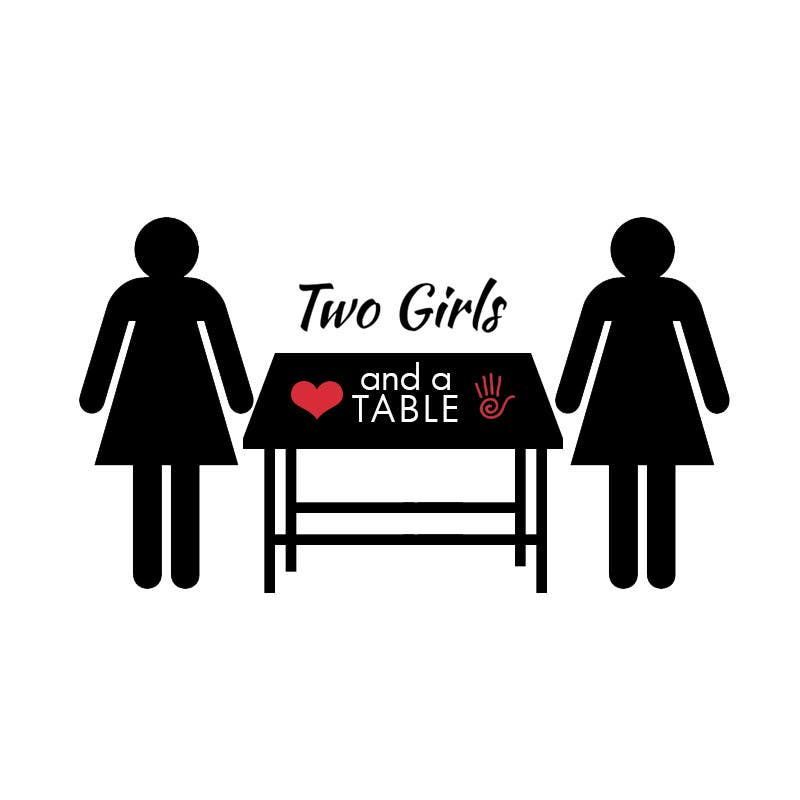 Penyertaan Peraduan #14 untuk Design a Logo for Two Girls and a Table