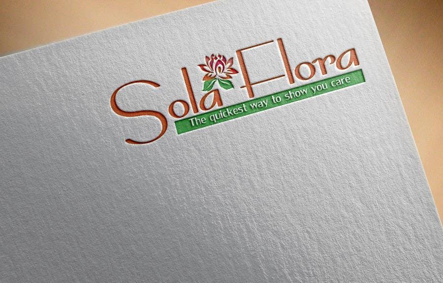 Konkurrenceindlæg #                                        53                                      for                                         Design a Logo for flower shop called sola flora
