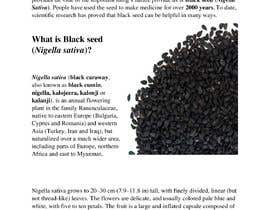 #19 pentru Blog post for benefits of Black Seed (Nigella Stavia) and Black Seed oil de către AgnusVane