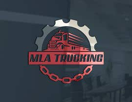 DesignarParvaj tarafından Trucking Company logo için no 195