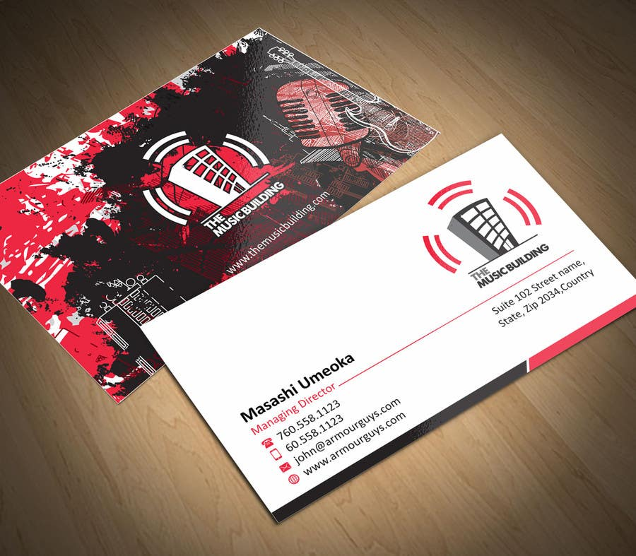 Contest Entry #                                        128                                      for                                         Design some Business Cards for The Music Building