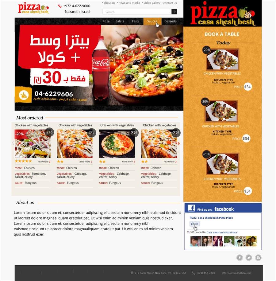 Proposition n°                                        19                                      du concours                                         Design a Website Mockup for a pizzeria restaurant