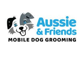 #444 for Aussie & Friends Mobile Dog Grooming LOGO af rachelcheree