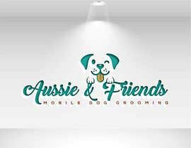 #55 for Aussie & Friends Mobile Dog Grooming LOGO af yamilhanifa2018