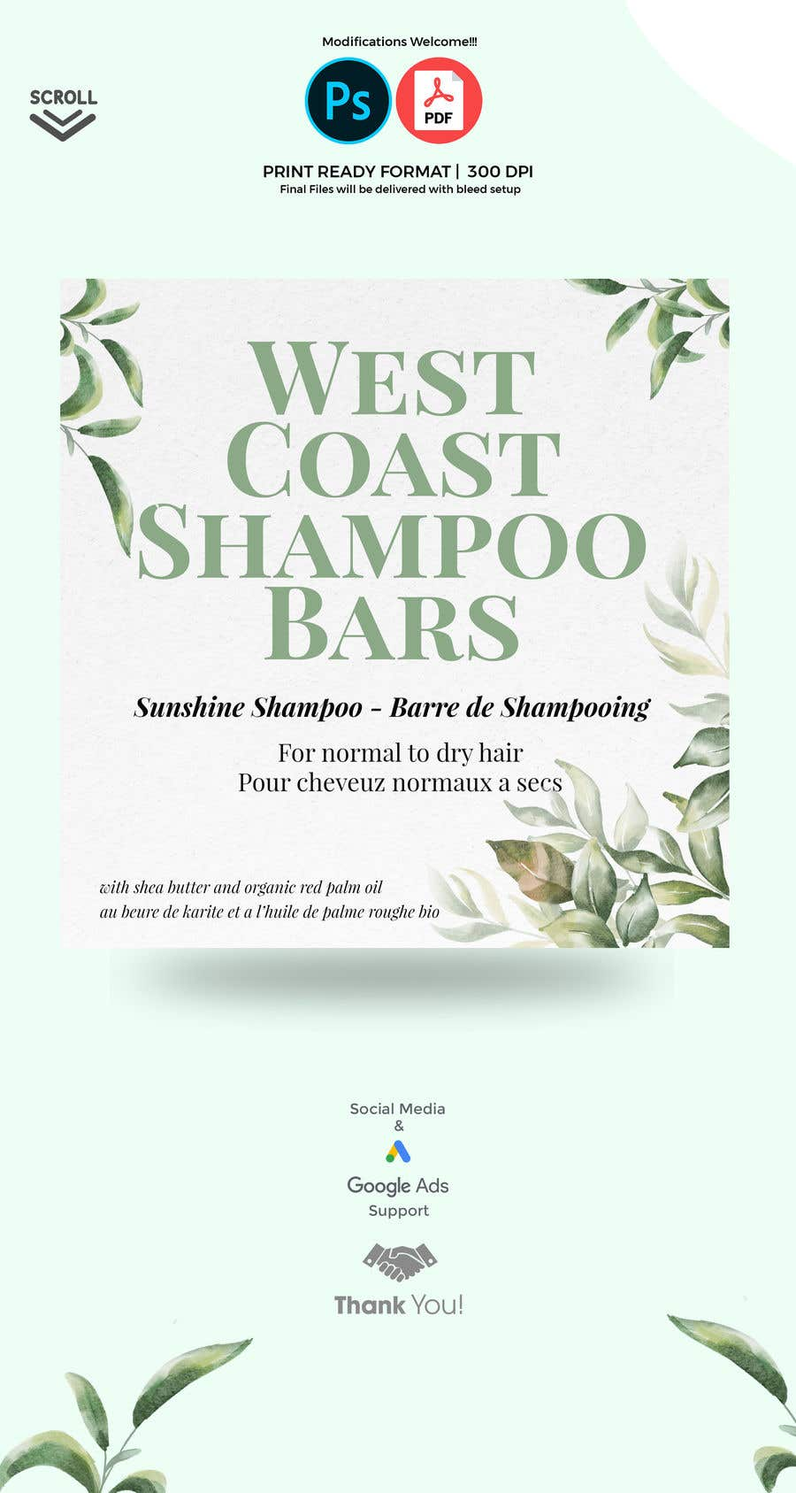 Bài tham dự cuộc thi #                                        1                                      cho                                         I need design help for packaging for shampoo and conditioner bars