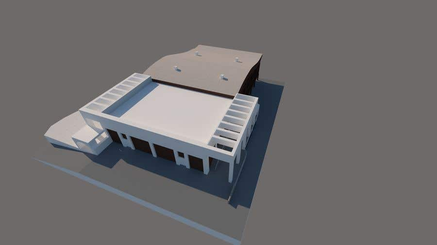 Contest Entry #                                        5                                      for                                         SKETCHUP 3D model of a building from pictures and plan #4