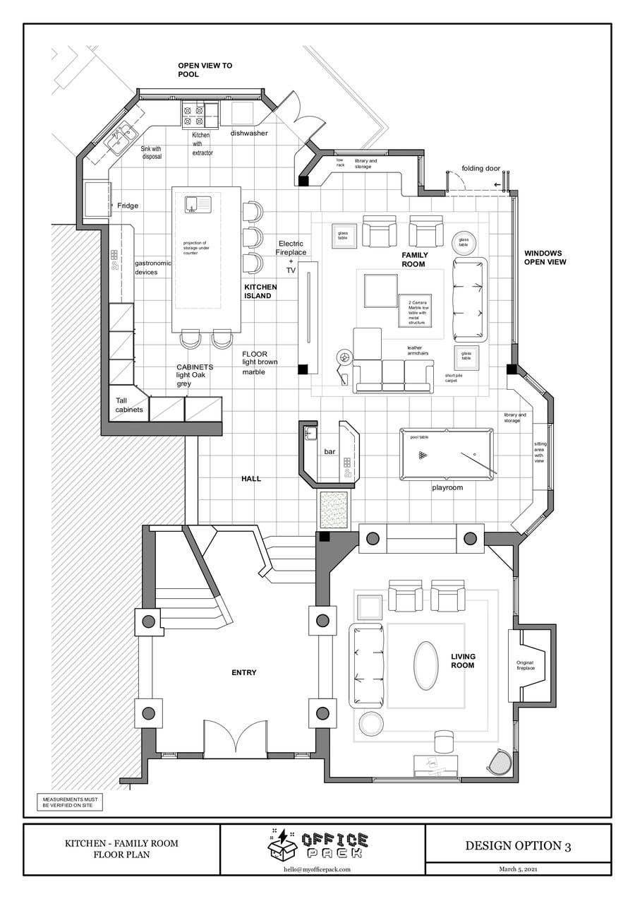 Kilpailutyö #                                        40                                      kilpailussa                                         Floor plan Redesign