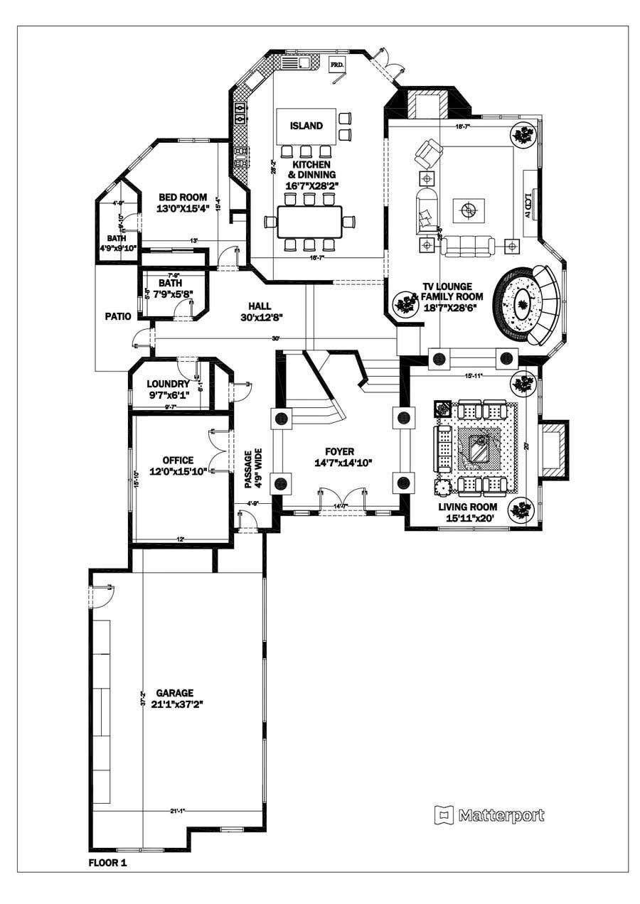 Konkurrenceindlæg #                                        43                                      for                                         Floor plan Redesign