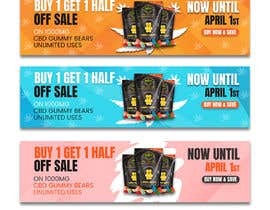 #147 for Banner for Buy 1 Get 1 Half Off  Sale on CBD Gummies by riponsumo