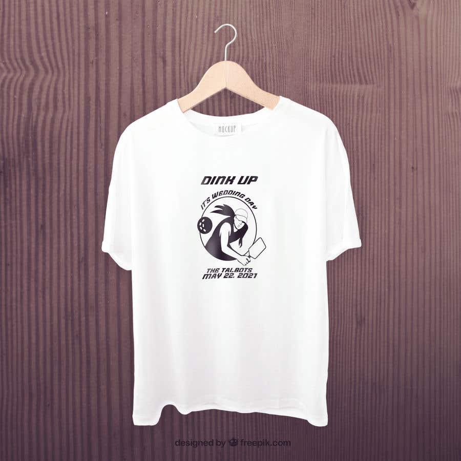 "Intrarea #                                        22                                      pentru concursul ""                                        Pickle Ball Wedding T Shirt Logo                                     """