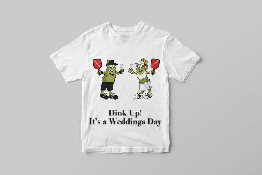 "Intrarea #                                        74                                      pentru concursul ""                                        Pickle Ball Wedding T Shirt Logo                                     """