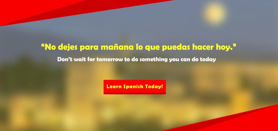 Contest Entry #                                        2                                      for                                         Online Spanish Course - Landing Page