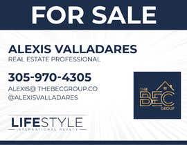 #4 untuk Alexis Valladares - FOR SALE Sign oleh HashamRafiq2