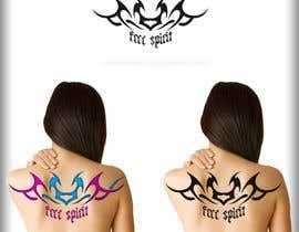 #65 untuk Free Spirit tattoo design oleh BahuDesigners