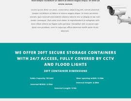 #6 untuk Build me a website for my storage container business. oleh jaiswalramlakhan
