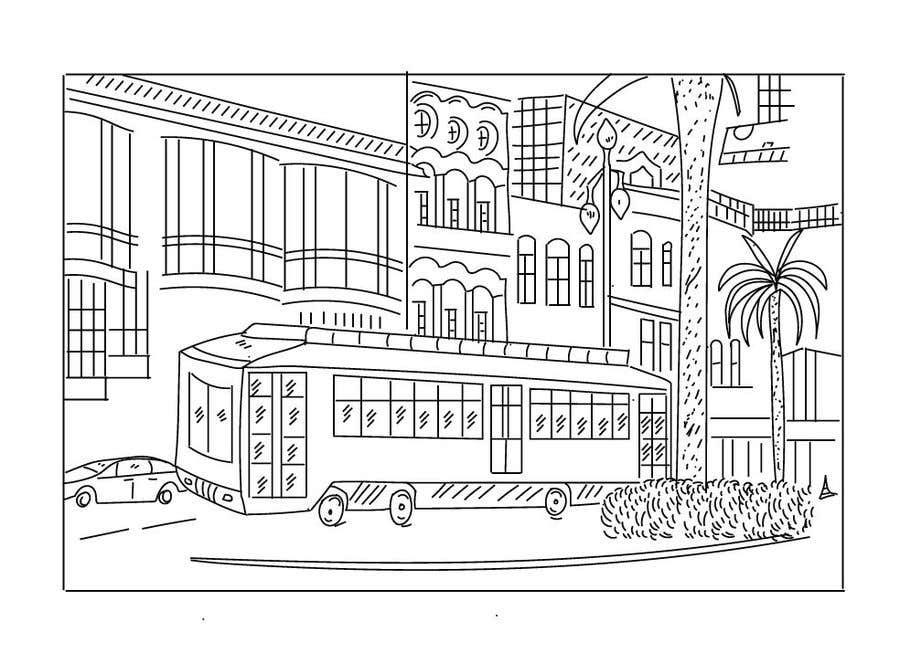 Inscrição nº                                         4                                      do Concurso para                                         Hand drawn coloring page