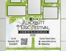 #91 untuk Blackbutt Music Festival Poster oleh ZhanBay