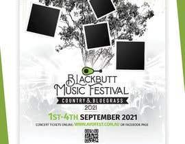 #125 untuk Blackbutt Music Festival Poster oleh Zetaslns