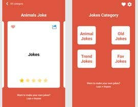 #5 for Create me a nice beautiful mockup design of a joke app by jfrelis23