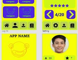 #2 untuk Create me a nice beautiful mockup design of a joke app oleh Huzaifa2497