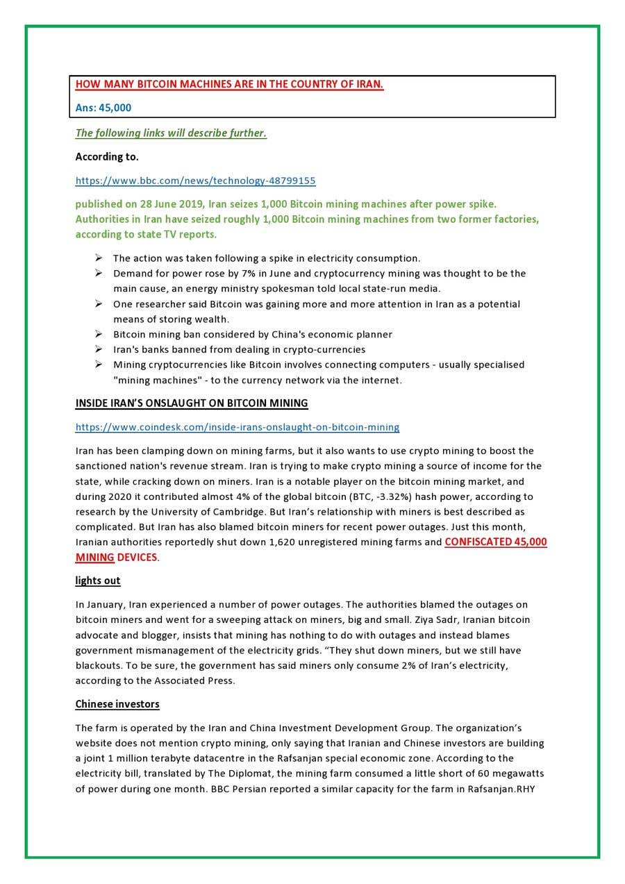 Proposition n°                                        14                                      du concours                                         Market Research BITCOIN