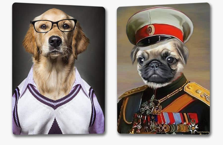 Bài tham dự cuộc thi #                                        62                                      cho                                         Need some fun stand out personal pet portrait template scenes.