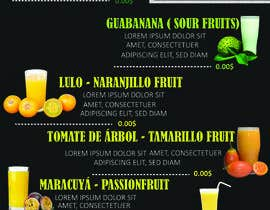 #26 para drinks menu for restaurant por prenon7770