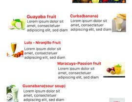 #31 untuk drinks menu for restaurant oleh anamikatusty