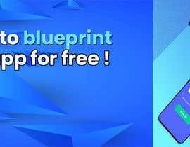 """#19 untuk A banner for my profiles that says """"I want to blueprint your app for free!"""". Make it interesting and clean. The final files must be sized for Facebook, LinkedIn and Twitter. Also include the company web address: theappguys.come oleh sakibahmed33"""