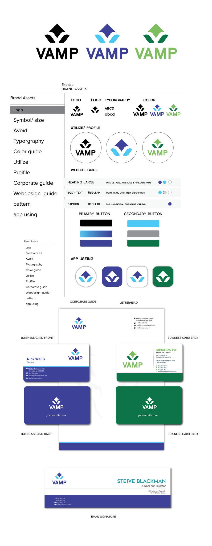 Contest Entry #                                        729                                      for                                         Brand Identity Guideline Sections (just creative Elements)